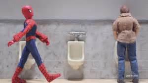 robot chicken bathroom gif lol humor animated spiderman laugh bath mask mascara