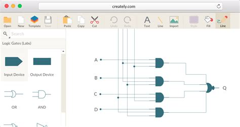 draw logic gates logic gate software logic gate tool create logic gates