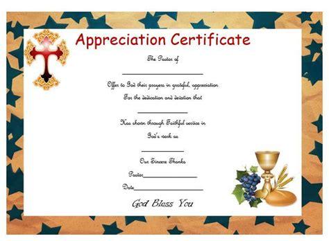 pastor appreciation certificate template 21 best pastor appreciation certificate templates images
