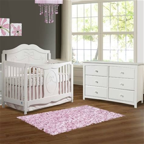 Storkcraft 2 Piece Nursery Set Princess Convertible Crib Convertible Crib And Dresser Set