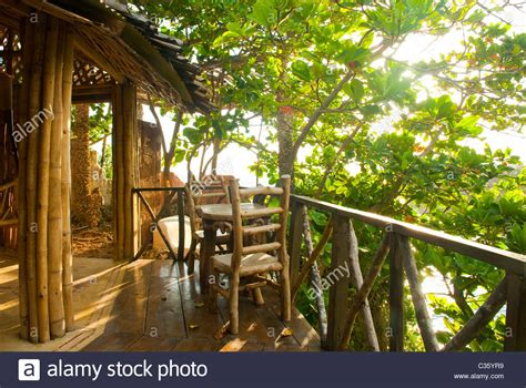 buy tree house view of deck at fig tree house hut at great huts eco resort village stock photo