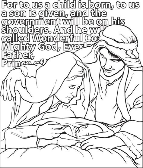free coloring pages of jesus mary and joseph