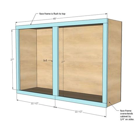 diy kitchen cabinets plans ana white build a 45 quot wall kitchen cabinet free and