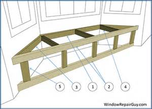 How to build a bay window seat with storage step 2 building the