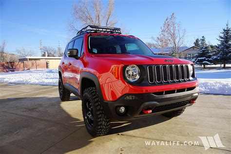 new jeep renegade lifted jeep renegade trailhawk daystar 1 5 quot lift 225 75r16
