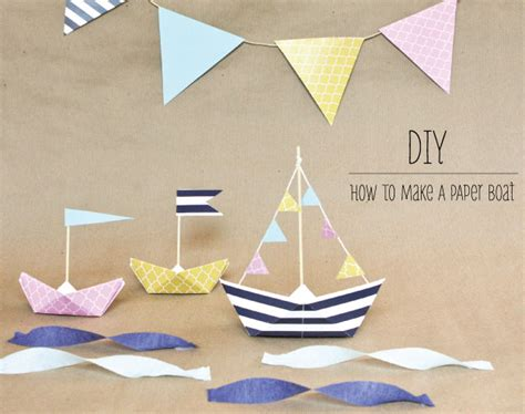 how to make a paper boat in words how to make a paper boat anchor nautical party ideas
