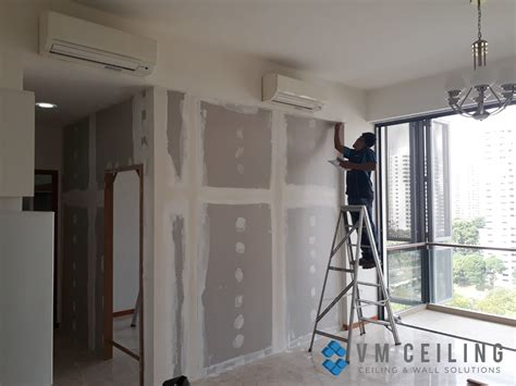 drywall repair vm false ceiling singapore partition wall