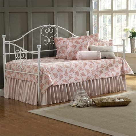girls day bed hillsdale lucy girls metal white w suspension daybed