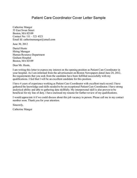 Patient Katherine S Letter patient care tech resume cover letter learn meditate