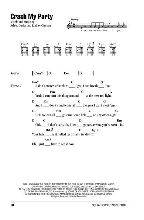 luke bryan guitar chords crash my party by luke bryan guitar chords lyrics