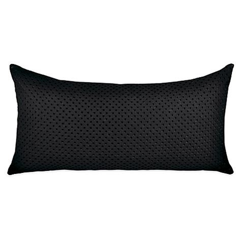 black bed pillows dkny transit oblong throw pillow in black bed bath beyond