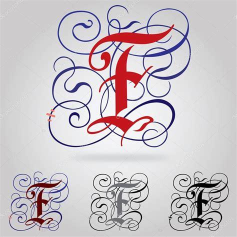 lettere gotiche decorate decorado em mai 250 sculas fonte g 243 tica letra f vetor de