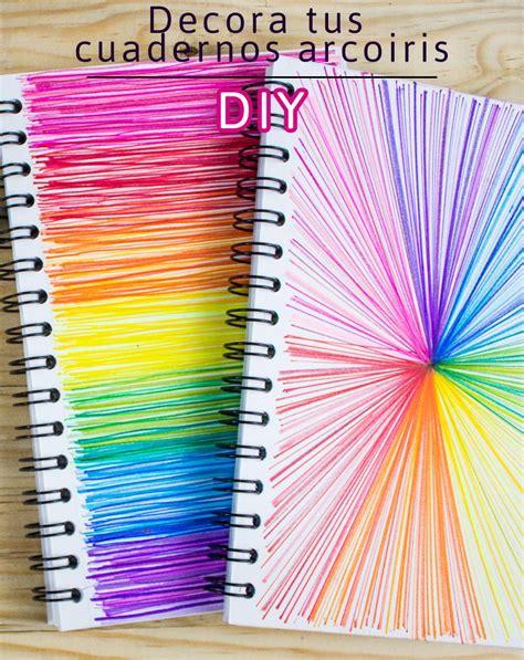 decorar cuadernos para decora tus cuadernos con lineas de colores regreso a