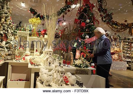 wwwhouston garden center xmas tree sale garden center indoor display of trees and lights for sale stock photo royalty free