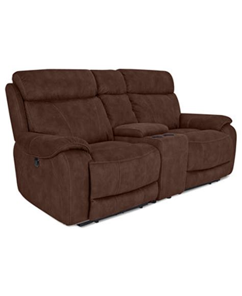 Dual Reclining Loveseat With Console by Kieran Fabric Reclining Loveseat Console Dual Power
