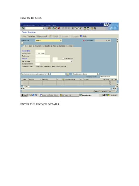 sap tutorial free download pdf free sap tutorial on invoice verification receipt invoice