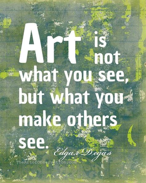 art quote print famous artist degas typography quote