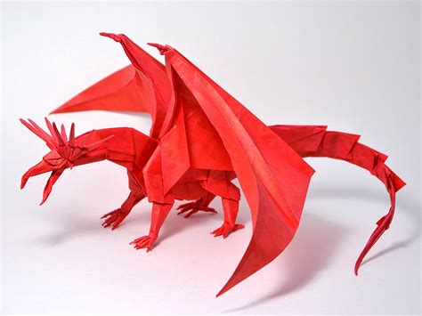 Origami Dragons - origami aww