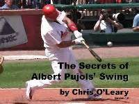 albert pujols swing analysis hitting pitching dvds ebooks flipbooks by chris o leary