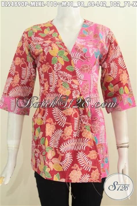 Dress Sl Pakaian Wanita Dress Warna Merah Kombi Bunga 64t4 jual produk pakaian batik istimewa warna merah kombinasi