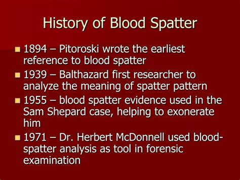 patterns of murder blood spatter analysis ppt video ppt blood splatter analysis powerpoint presentation id