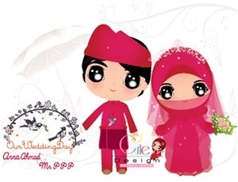 Animasi Wedding Muslim by Gambar Ccicutedollylicious Dolly Cci Gambar Kartun