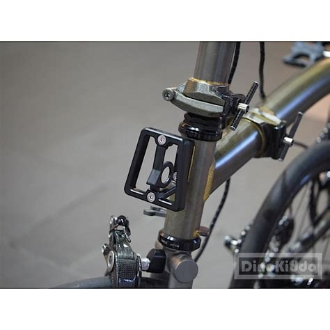 brompton front carrier block black black cnc front carrier block for brompton folding bike