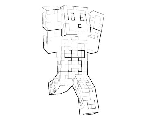 minecraft character drawing template free coloring pages of mutante