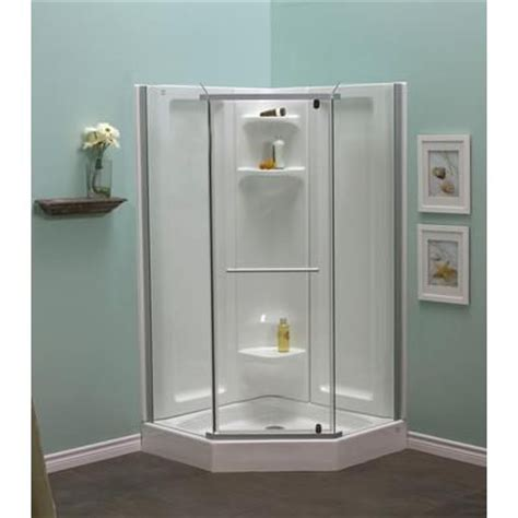 Mirolin 3 Shower Units by Mirolin Sorrento 42 Inch Acrylic Frameless Neo Angle