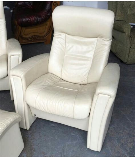 stressless style recliners ekornes stressless style cream recliner leather 6pc sofa