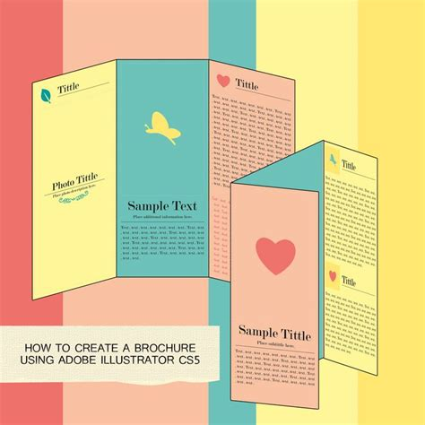 How To Make A Handmade Brochure - make a brochure in adobe illustrator illustrators adobe