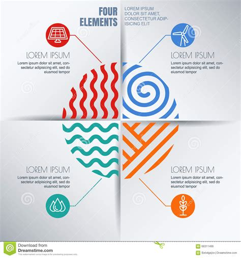 design concept elements vector infographics design template with four elements