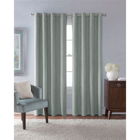 solaris outdoor curtains solaris semi opaque mist faux suede grommet curtain 1