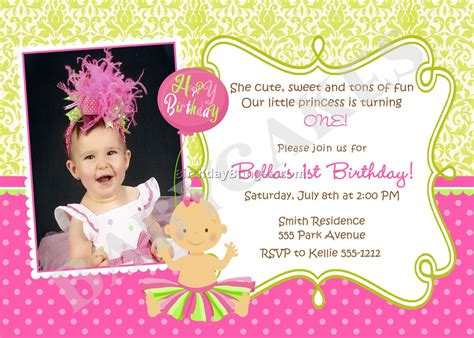 21 Kids Birthday Invitation Wording That We Can Make Sle Birthday Party Invitations Baby Birthday Invitation Card Template