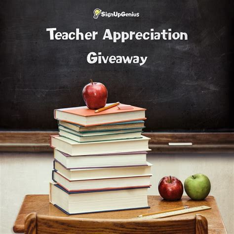 Giveaway Center Sign Up - sign up genius teacher appreciation giveaway