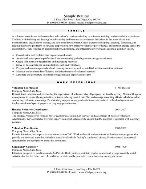 resume exle exles of resumes