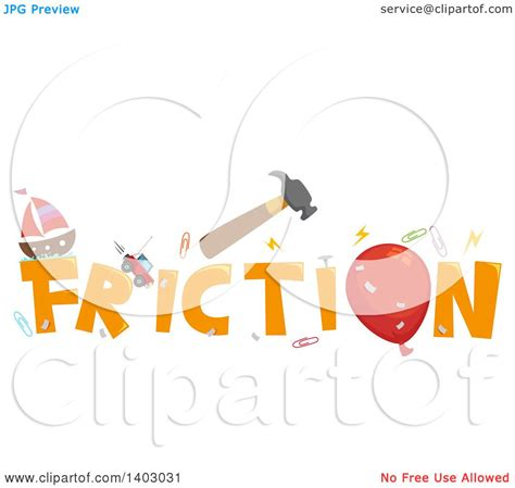 clipart of a friction word design royalty free vector