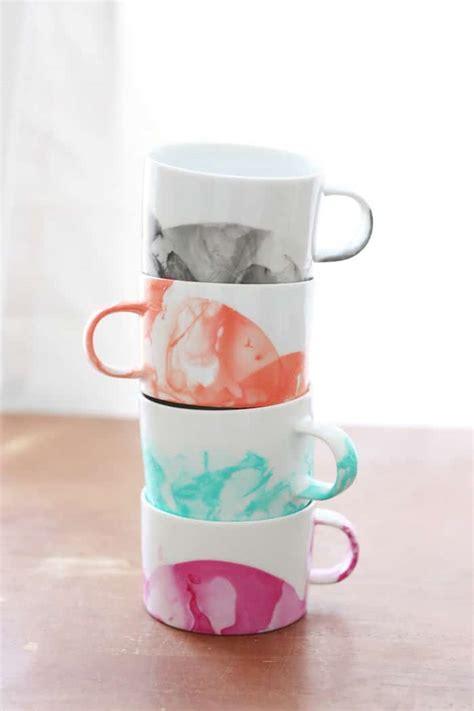 design coffee mug with nail polish diy marbled mugs with nail polish diy candy