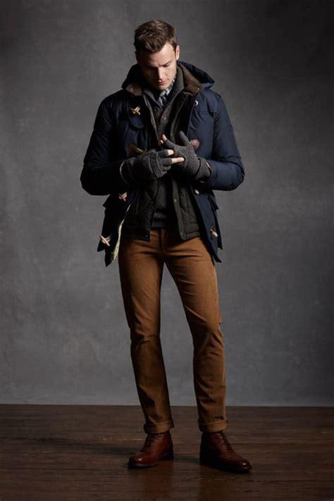 0344 Hem Winter Boy picture of ocher a navy coat and cognac boots