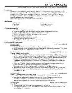 Background Investigator Sle Resume by Background Investigator Resume Exle Spokane Department Spokane Washington