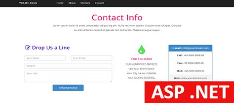 theme templates for asp net asp net contact template free html bootstarp