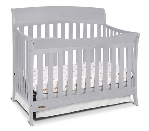 graco lennon 4 in 1 convertible crib pebble gray baby