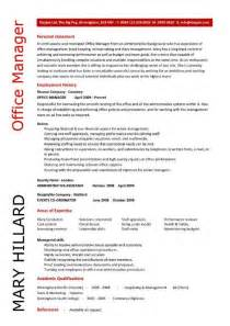 Office Manager Resume Objective Office Manager Resume Objective By Mary Hillard Resume