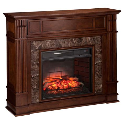 Infrared Media Fireplace by Southern Enterprises Highgate Infrared Media Fireplace In Maple Fi9321