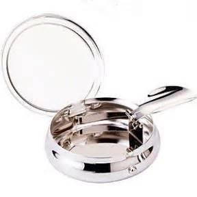 silver plated pocket ashtray personalised ref sppa