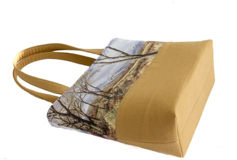 Handmade Canvas Bags - winter in the owens valley handmade book tote bag