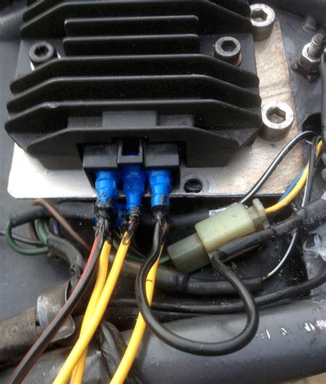 buitenboordmotor met dynamo spanningsregelaar vervangen yamaha xt600e