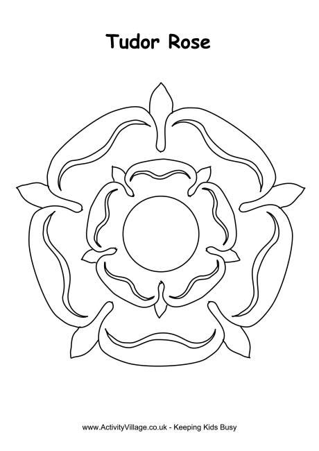 tudor rose coloring page tudor rose colouring page shakespeare pinterest