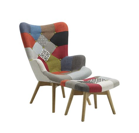 Patchwork Armchairs - patchwork armchair stool multicolour modern
