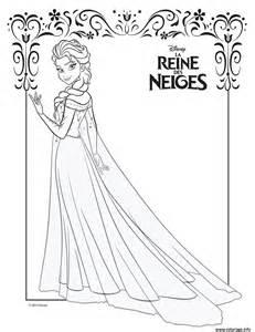 Coloriage Elsa Et Sa Robe De Glace Frozen Disney Dessin